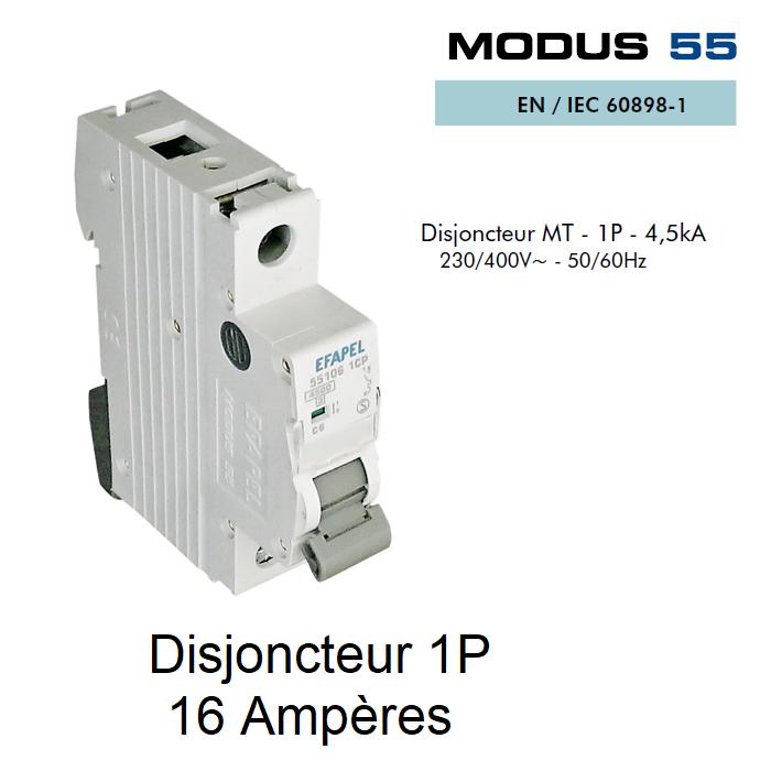 Disjoncteur Magnétothermique PLUS - 1P - 4,5kA - 16A