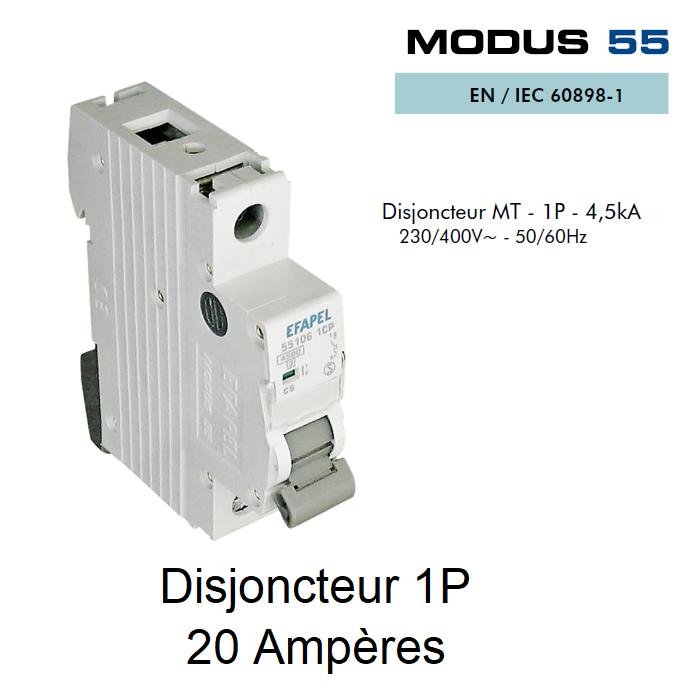Disjoncteur Magnétothermique PLUS - 1P - 4,5kA - 20A