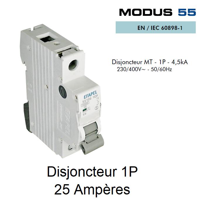 Disjoncteur Magnétothermique PLUS - 1P - 4,5kA - 25A