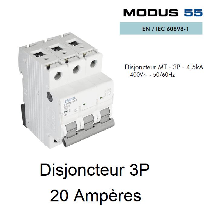 Disjoncteur Magnétothermique - 3P - 4,5kA - 20A