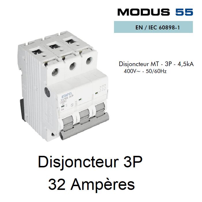 Disjoncteur Magnétothermique - 3P - 4,5kA - 32A