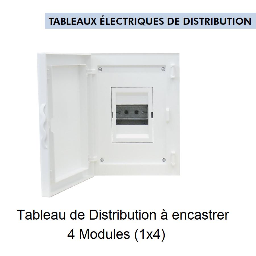 Tableau de Distribution à Encastrer Complet - 4 Modules (1x4)