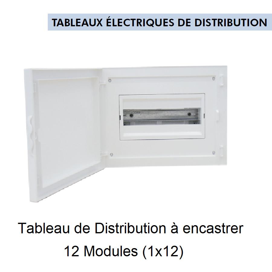 Tableau de Distribution à Encastrer Complet - 12 Modules (1x12)
