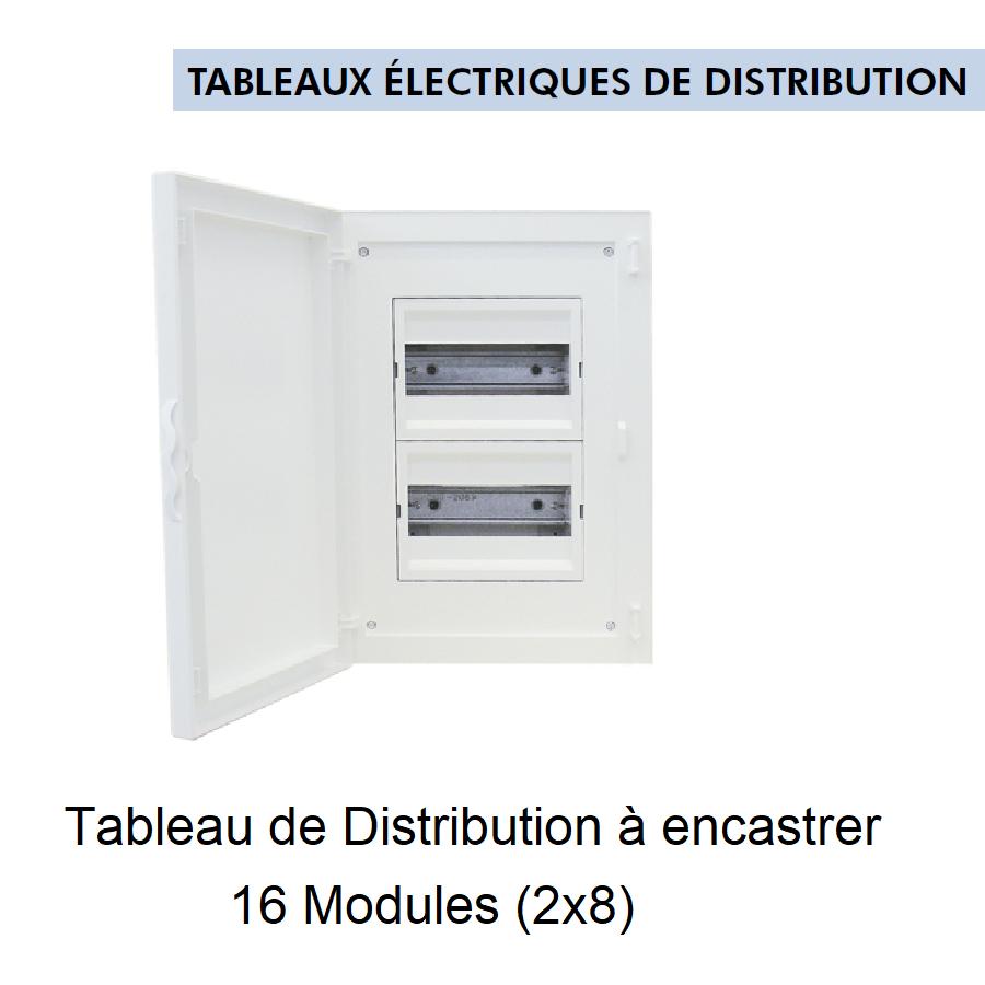 Tableau de Distribution à Encastrer Complet - 16 Modules (2x8)