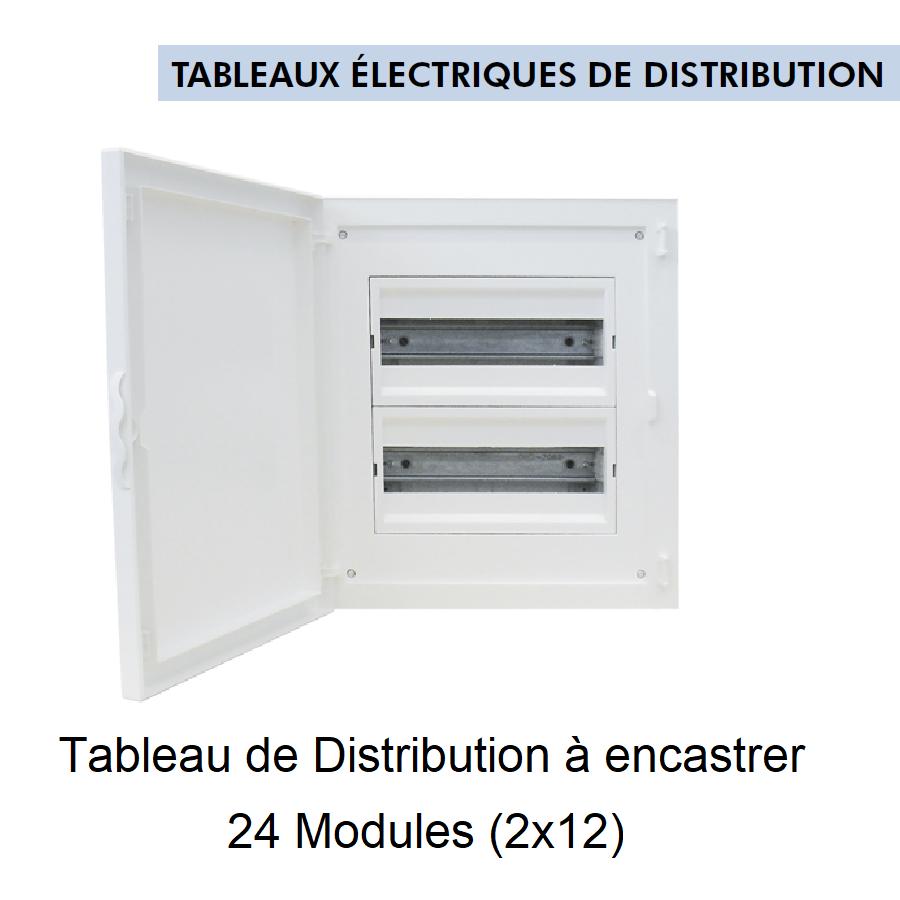 Tableau de Distribution à Encastrer Complet - 24 Modules (2x12)