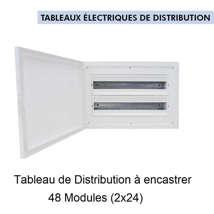 Tableau de Distribution à Encastrer Complet - 48 Modules (2x24)