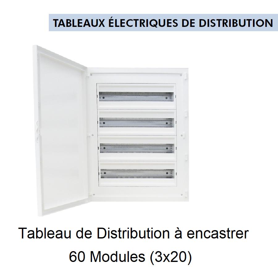 Tableau de Distribution à Encastrer Complet - 80 Modules (4x20)