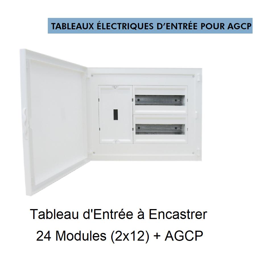 Tableau Electrique à Encastrer Complet - 24 Modules (2x12) + DCP