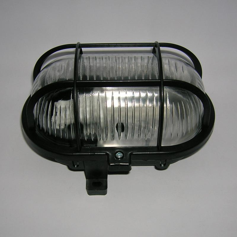 Applique Ovale PVC IP44 Série 52 - NOIR