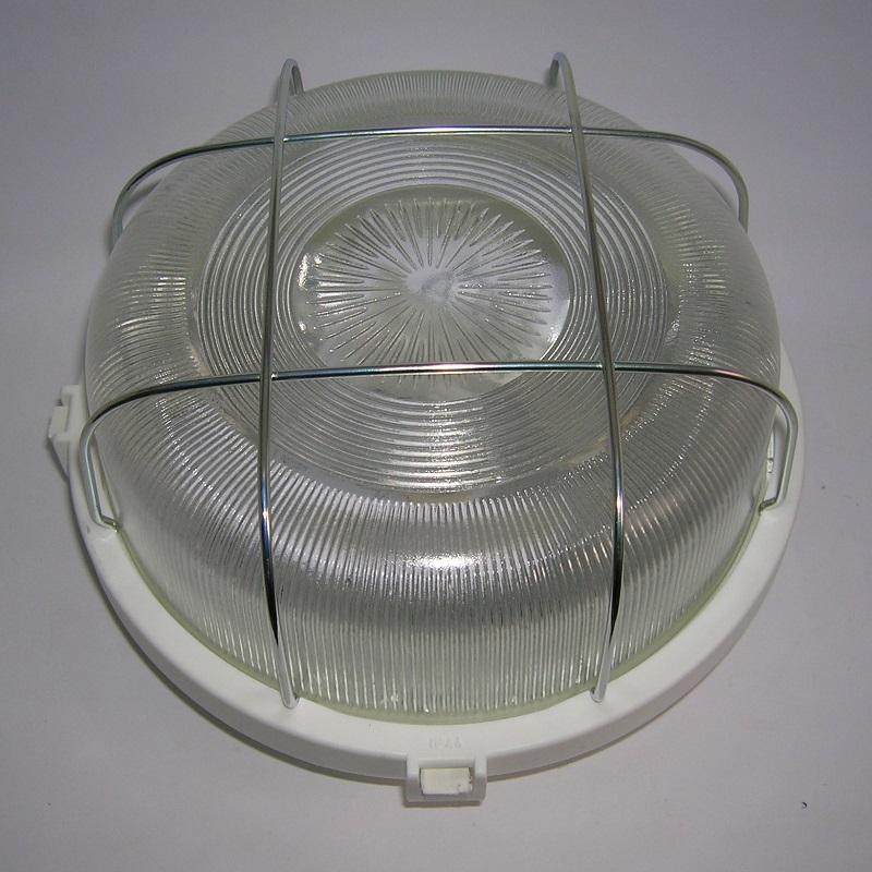 Applique Circulaire PVC Série 55 avec Grille métallique - BLANC