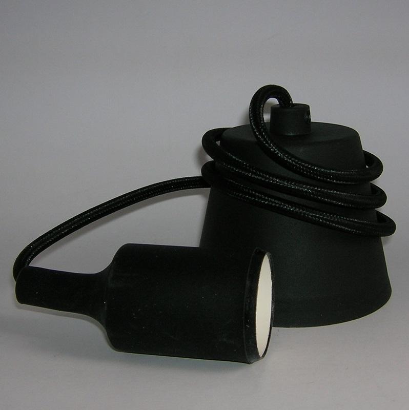 Suspension luminaire plastique Douille E27 - NOIR