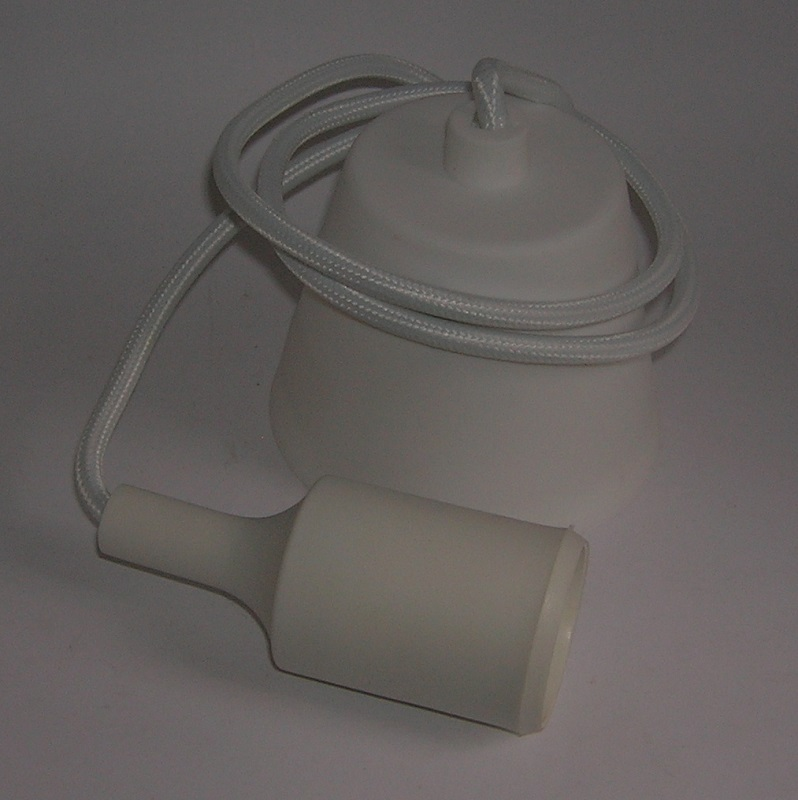 Suspension luminaire plastique Douille E27 - BLANC