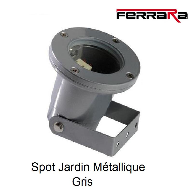 Spot extérieur à fixer GU10 - IP65 - Gris
