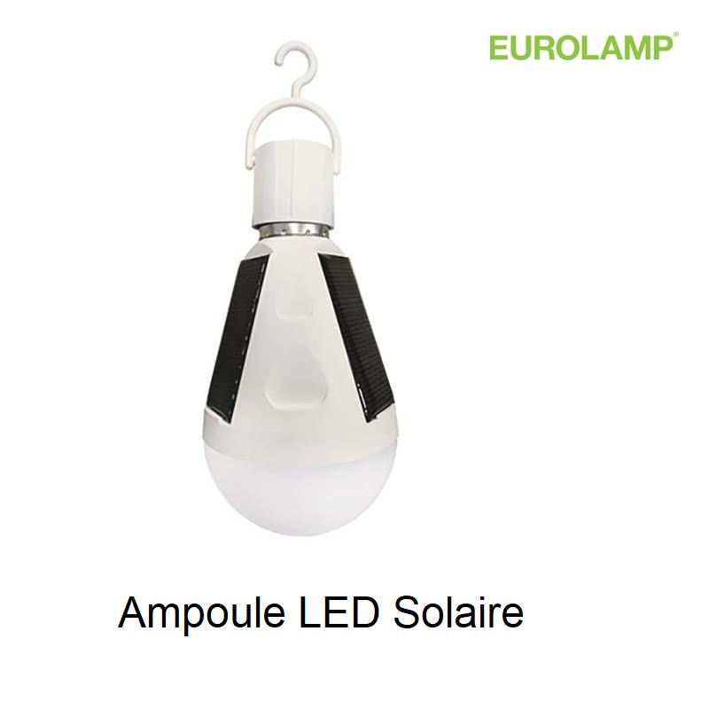 Ampoule LED de secours avec Panneau solaire IP65 - E27