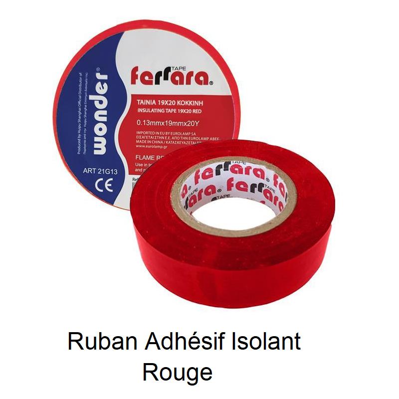 Ruban Adhésif Isolant - Tape Rouge