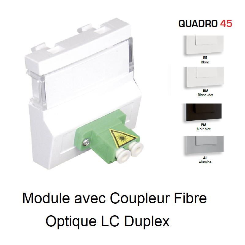 Module avec Coupleur de Fibre Optique LC Duplex - 2 Modules QUADRO 45