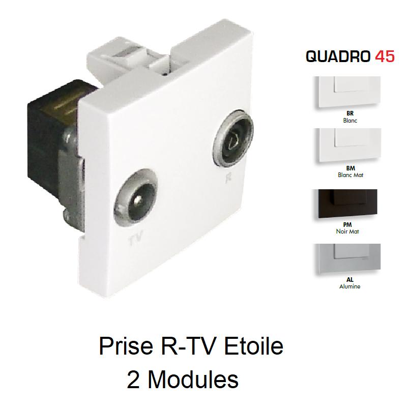 Prise R-TV Etoile - 2 Modules QUADRO 45