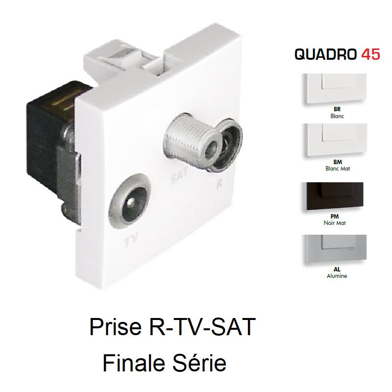 Prise R-TV-SAT Finale Série - 2 Modules QUADRO 45