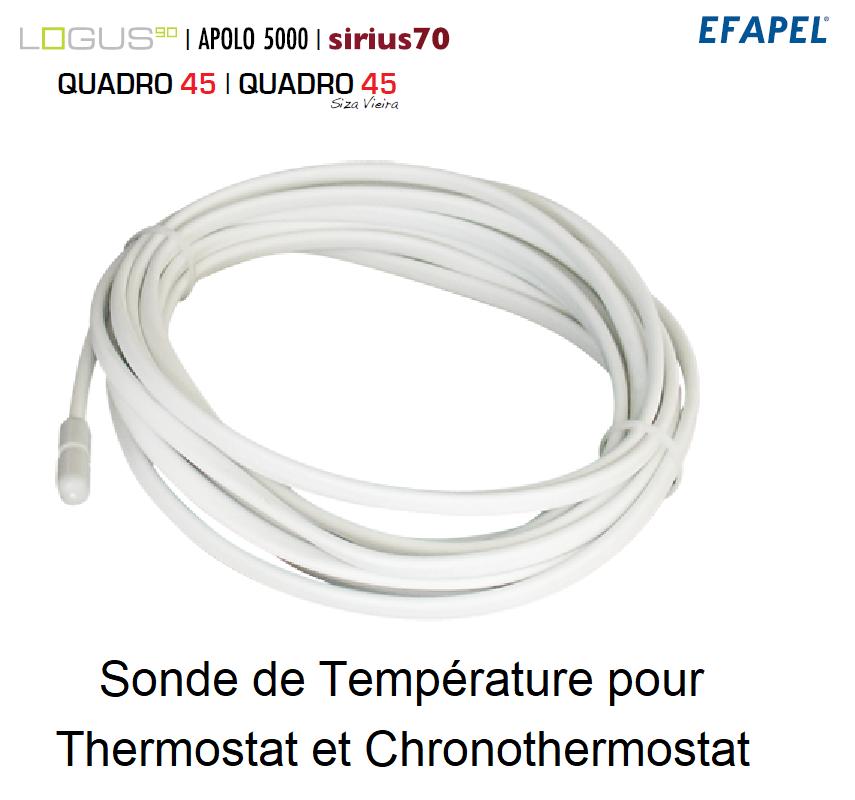 Sonde de Température pour Thermostat et Chronothermostat