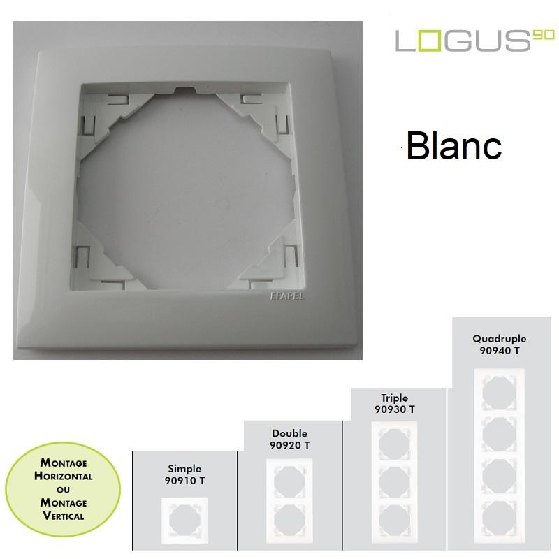 Plaque Base Blanche LOGUS90