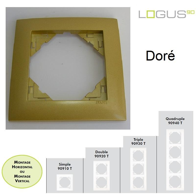Plaque Aquarella Doré LOGUS90