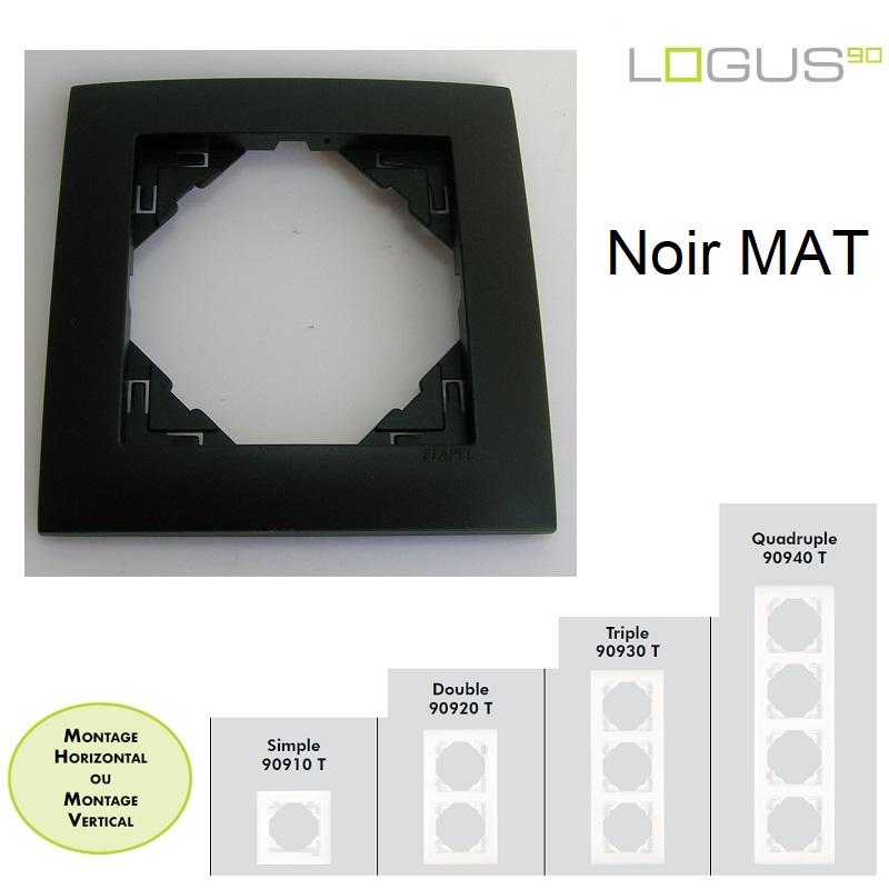 Plaque Aquarella Noir MAT LOGUS90