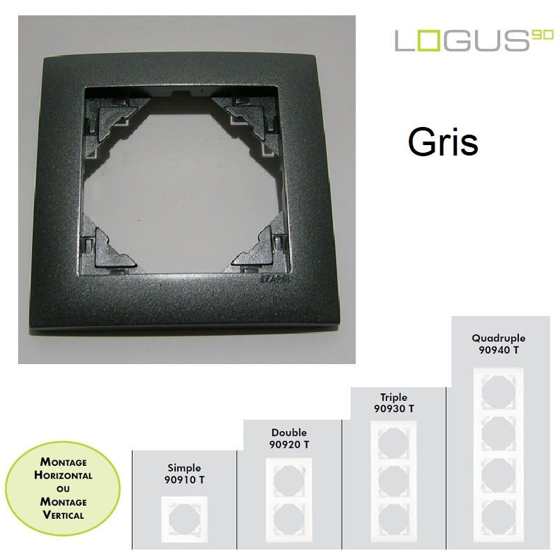 Plaque Aquarella Gris LOGUS90