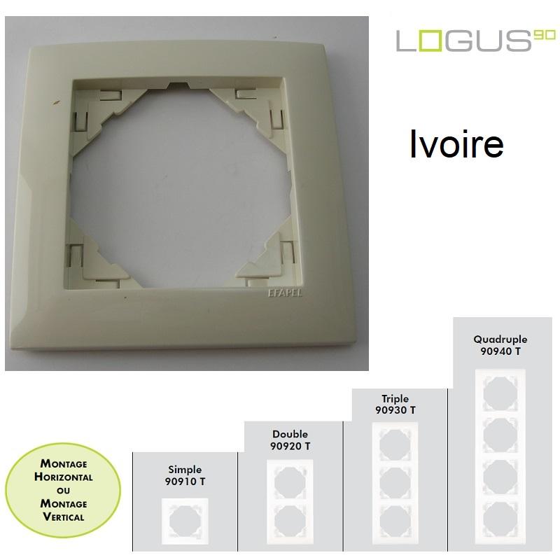 Plaque Base Ivoire LOGUS90