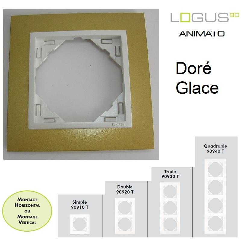 Plaque Animato Doré/Glace LOGUS90