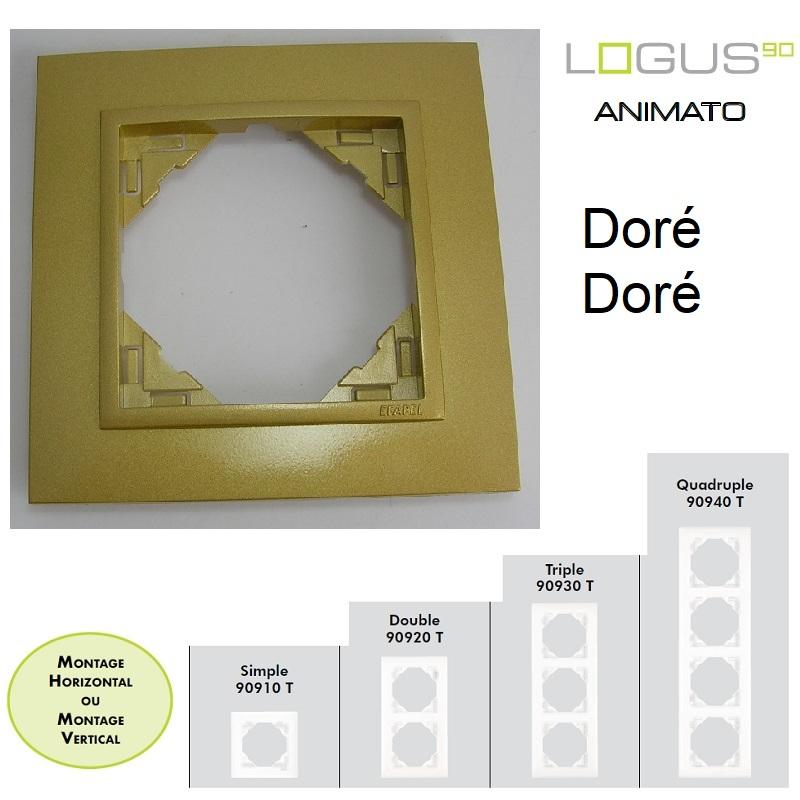Plaque Animato Doré/Doré LOGUS90