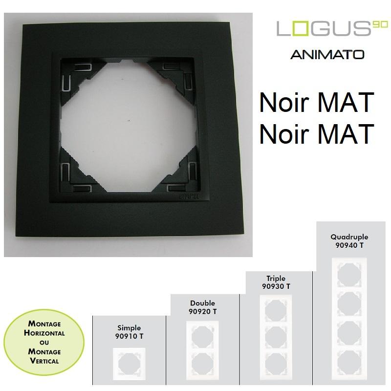 Plaque Animato Noir MAT/Noir MAT LOGUS90