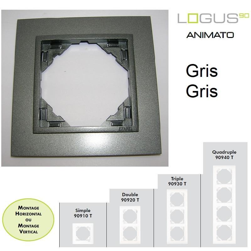 Plaque Animato Gris/Gris LOGUS90