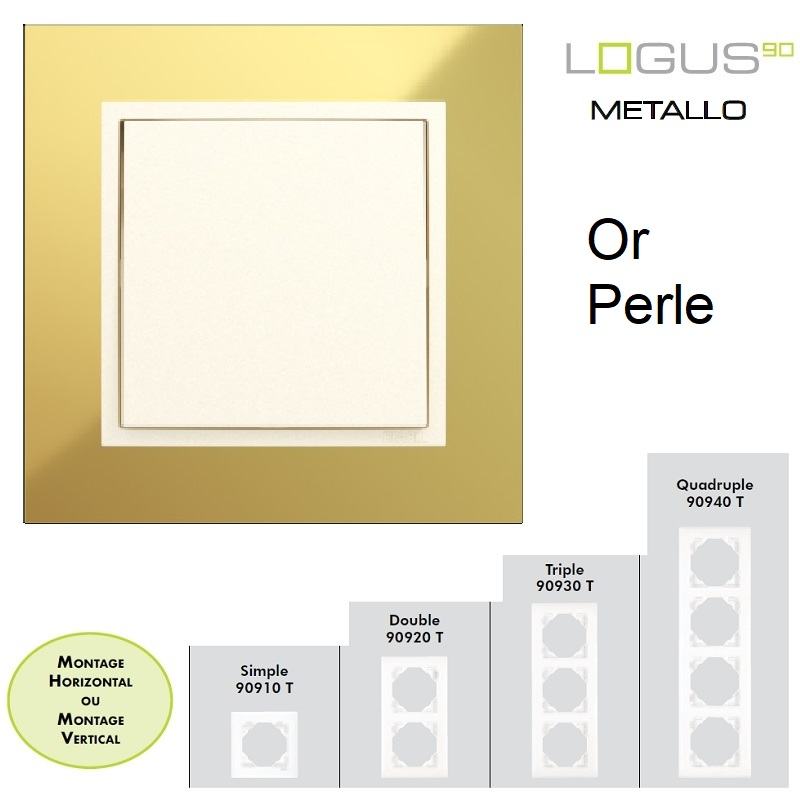 Plaque LOGUS90 METALLO - Or/Perle