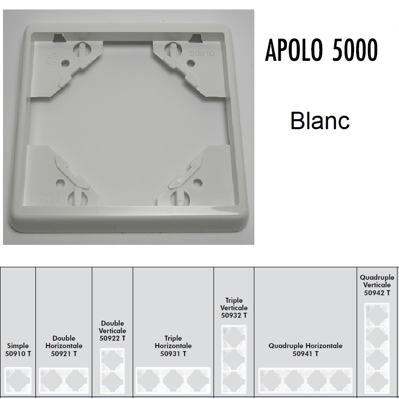 Plaque APOLO5000 Standard - Blanc