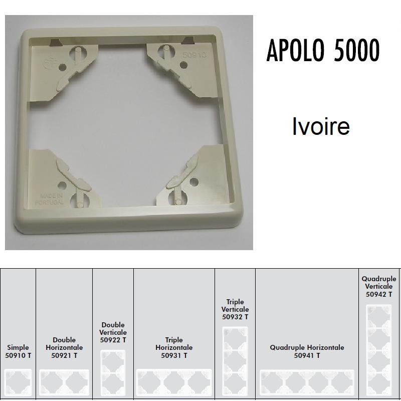 Plaque APOLO5000 Standard - Ivoire
