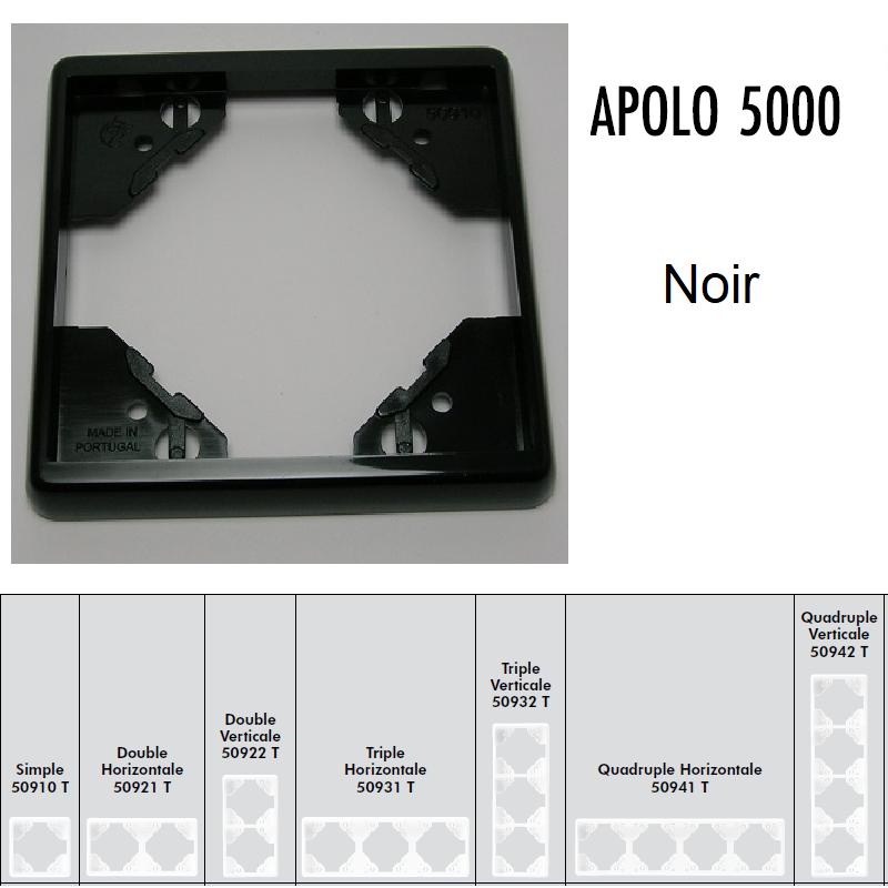 Plaque APOLO5000 Standard - Noir
