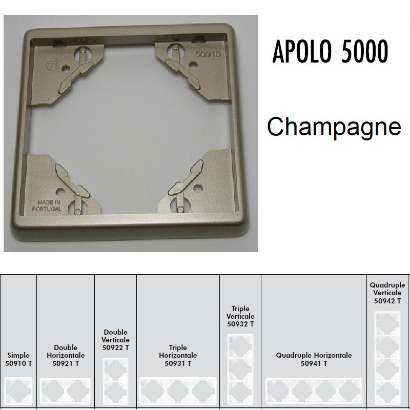 Plaque APOLO5000 Métal - Champagne