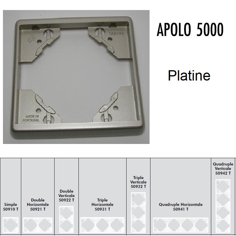 Plaque APOLO5000 Métal - Platine