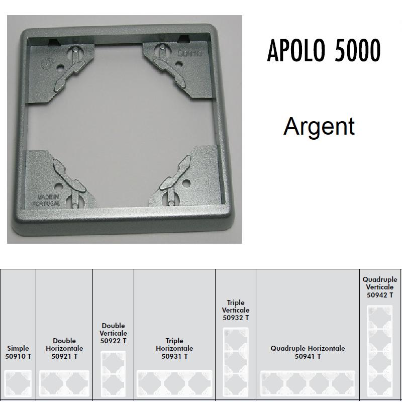 Plaque APOLO5000 Métal - Argent
