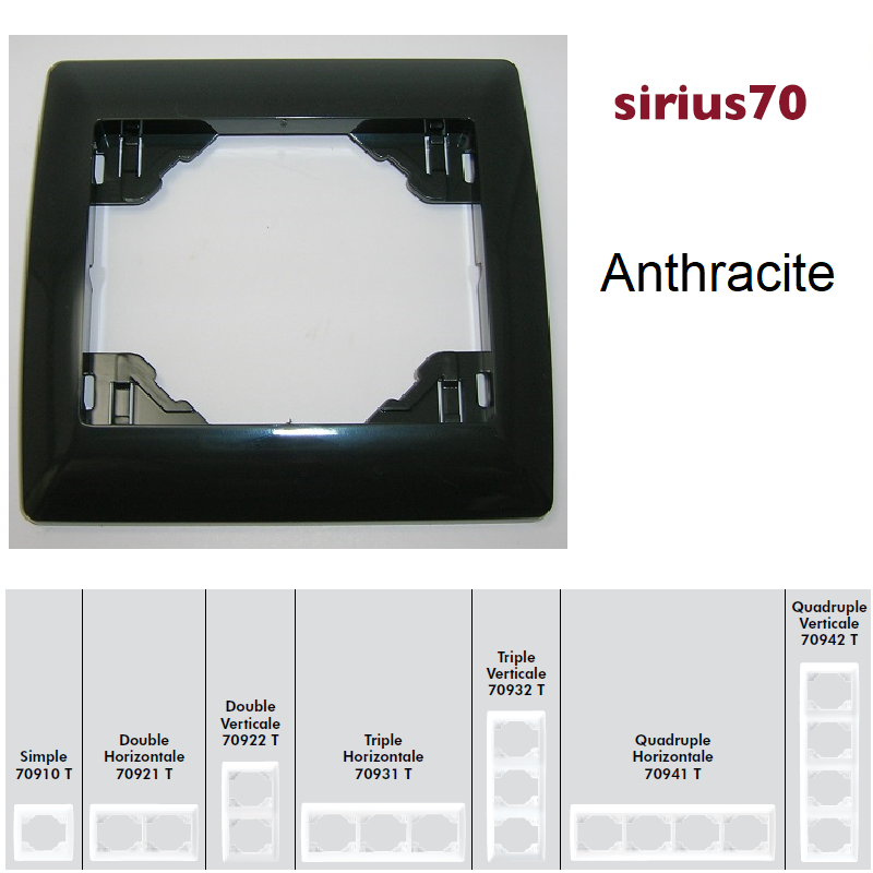Plaque Classique Sirius70 - Anthracite