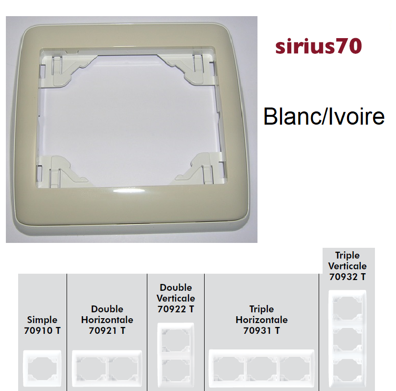 Plaque Sirius70 Ambiant - Blanc/Ivoire
