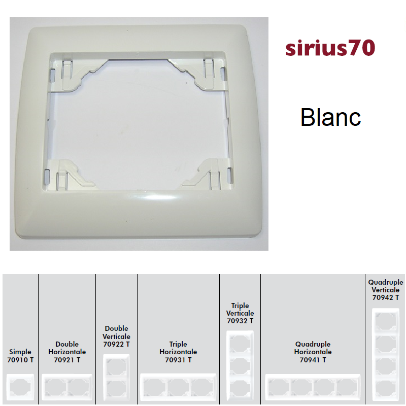 Plaque Classique Sirius70 - Blanc