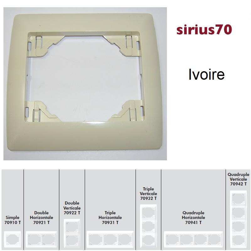 Plaque Sirius70 - Ivoire