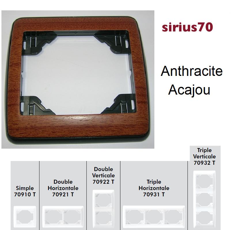 Plaque Sirius70 Bois - Anthracite/Acajou