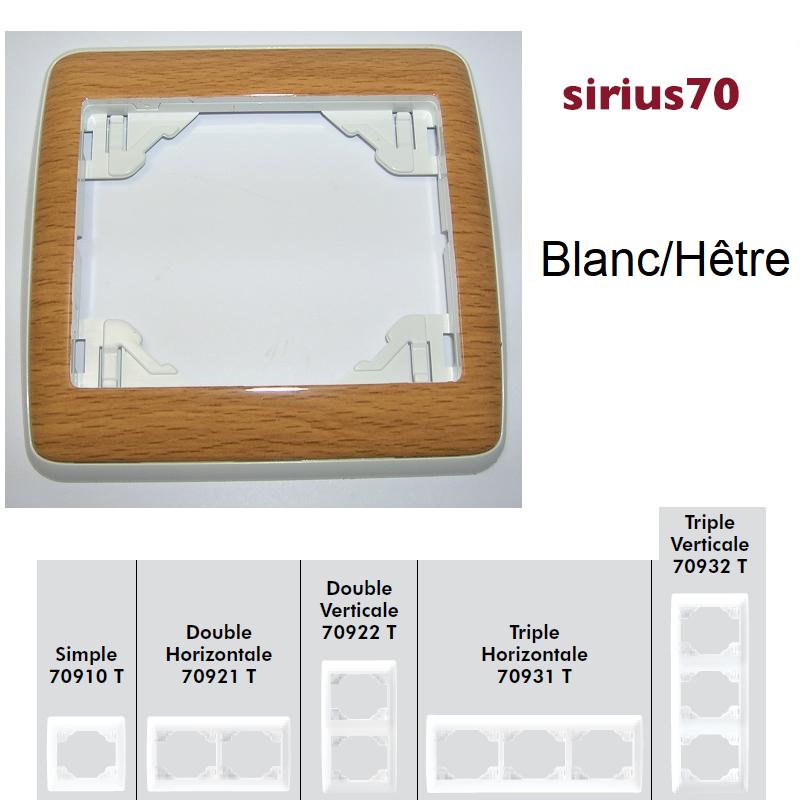 Plaque Sirius70 Bois - Blanc/Hêtre
