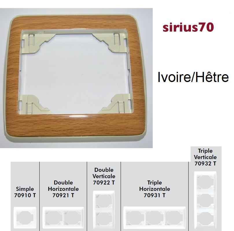 Plaque Sirius70 Bois - Ivoire/Hêtre