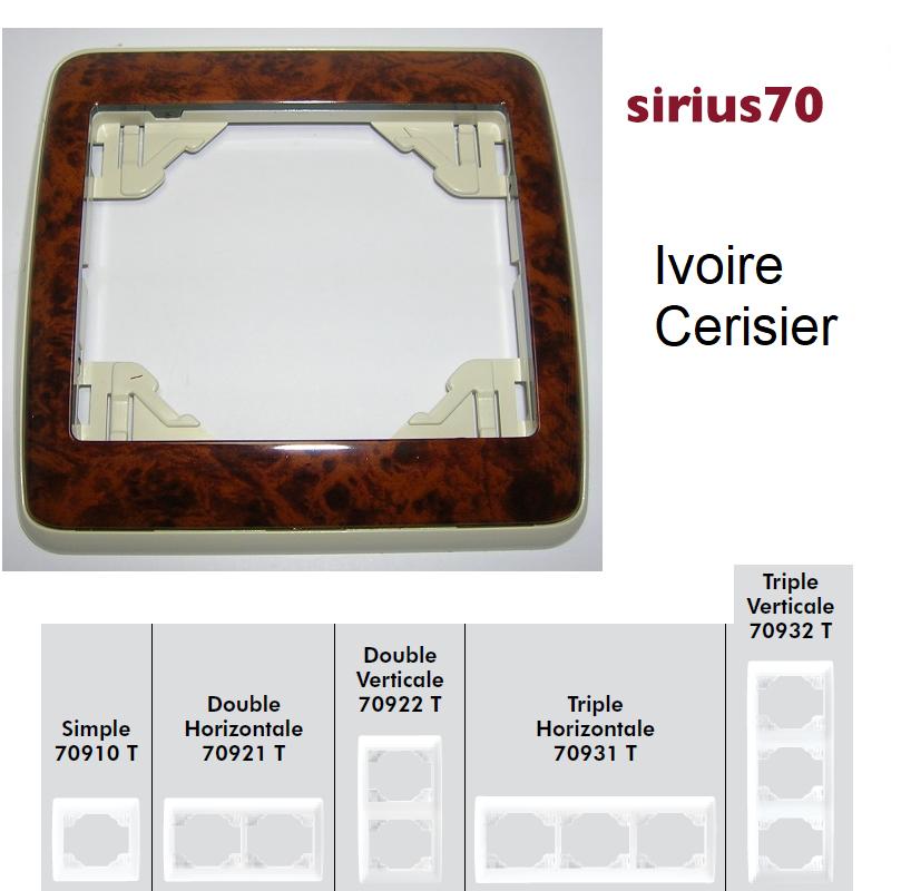 Plaque Sirius70 Bois - Ivoire/Cerisier