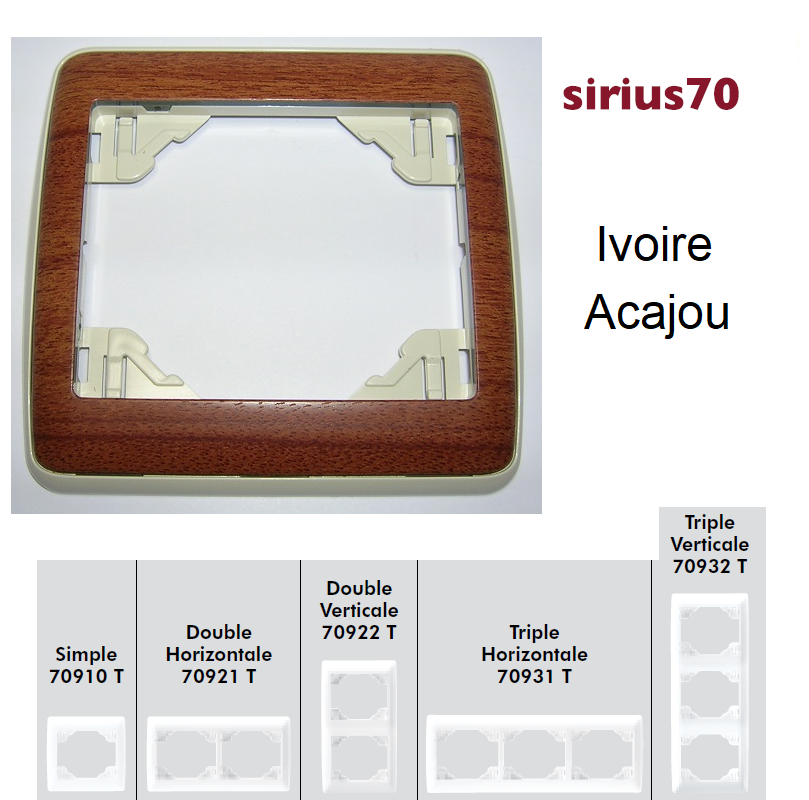 Plaque Sirius70 Bois - Ivoire/Acajou