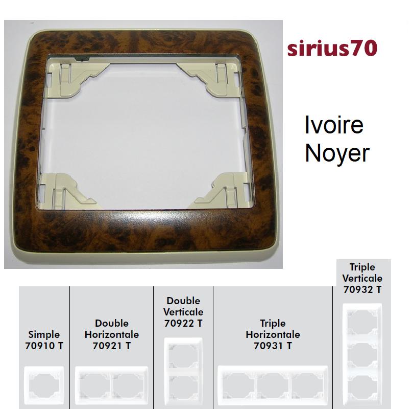 Plaque Sirius70 Bois - Ivoire/Noyer