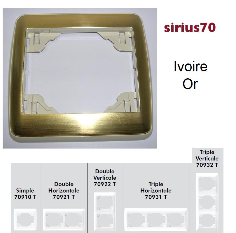 Plaque Sirius70 Métal - Ivoire/Or
